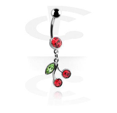 Curved Barbell with Cherry Dangle