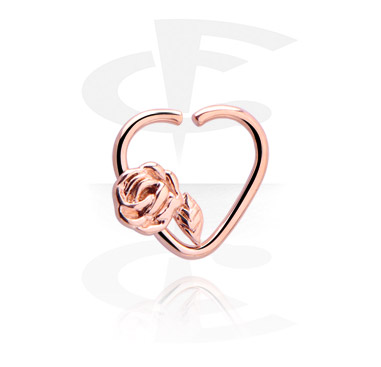 Heart-shaped Continuous Ring