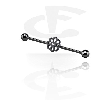 Industrial barbell nero
