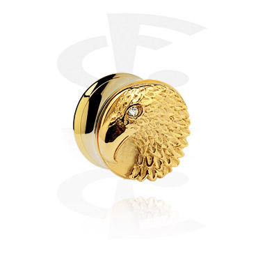 Gold Plated 3D Flesh Tunnel