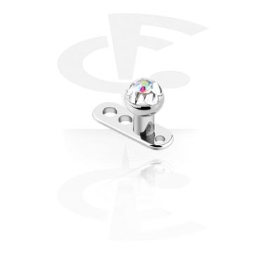 Microdermal avec disque crystaline
