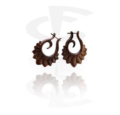 Tribal Wood brincos (Sold by pair)