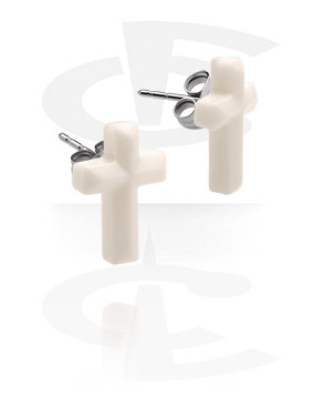 Ear Studs with Cross
