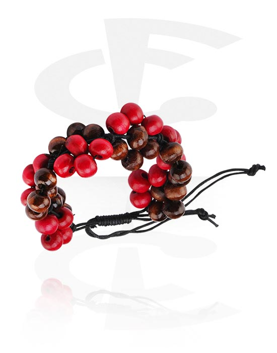 Armbånd, Fashion Bracelet, Different types of Wood, Wax Cord